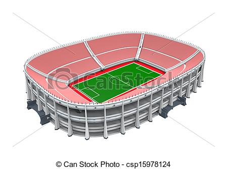 Stock Illustration   Stadium Building Isolated   Stock Illustration