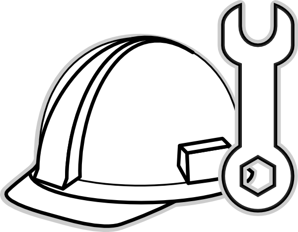 White Hard Hat Clip Art At Clker Com   Vector Clip Art Online Royalty