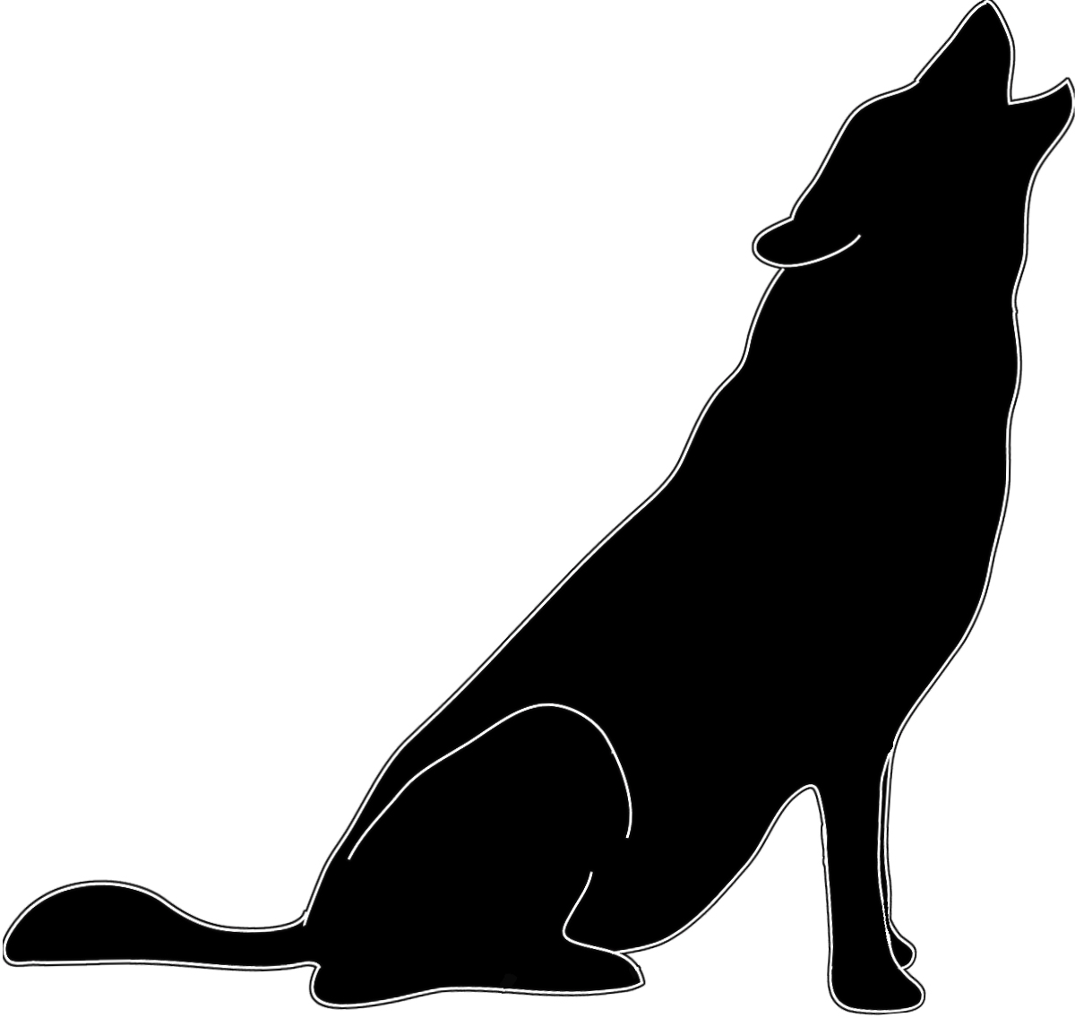 Wolf Silhouette Clip Art Quotes