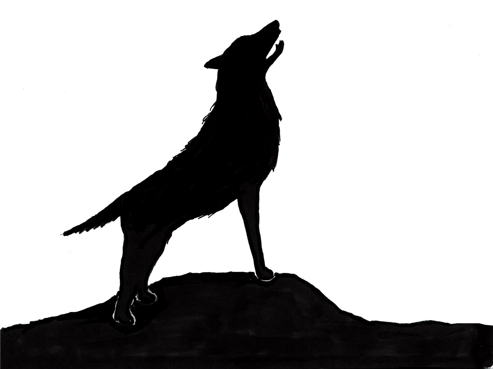 Wolf Silhouette Clip Art Wolf Silhouette