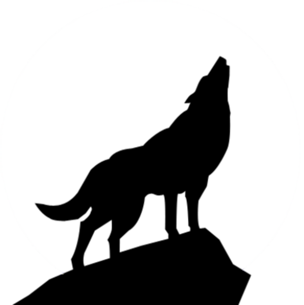 Wolf Silhouette Psd   Free Images At Clker Com   Vector Clip Art