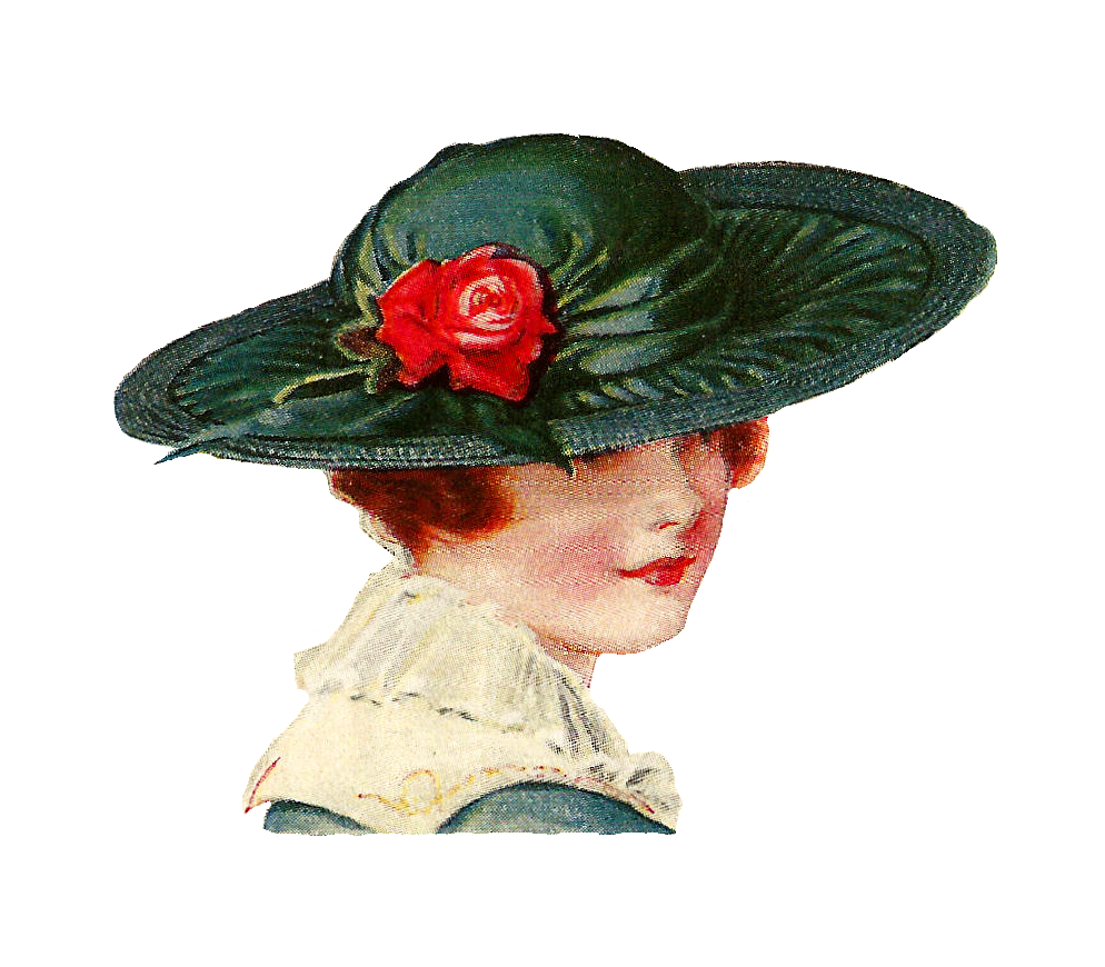 Women Hat Clipart Vintage Women S Hat