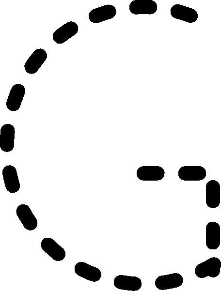 Alphabet Tracing Letter G Clip Art At Clker Com   Vector Clip Art