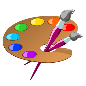 Image result for CLIPI ART ARTISTS PALETTE