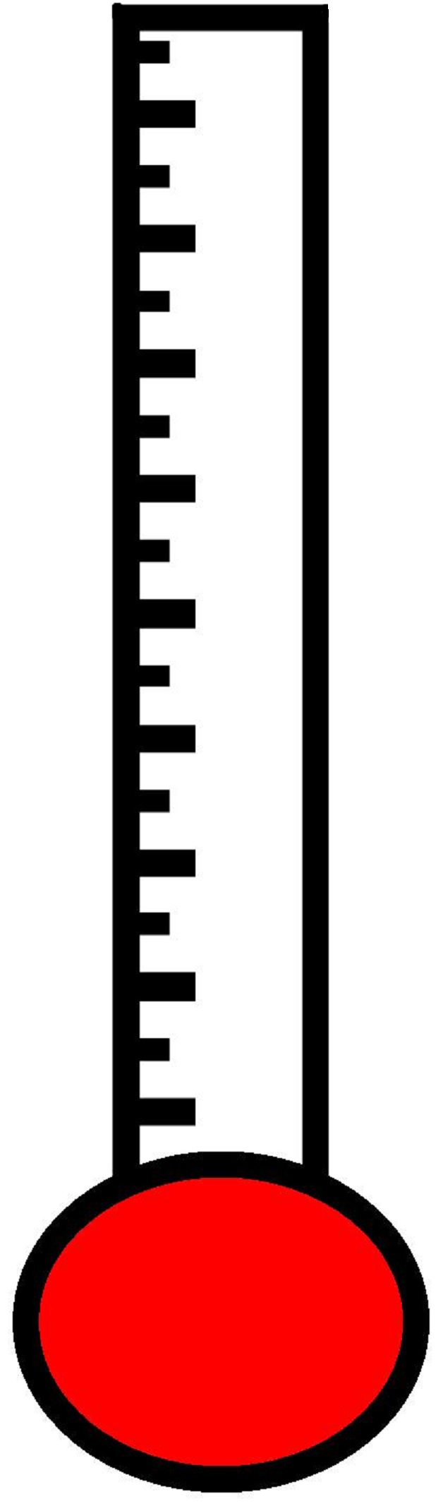 Blank Thermometer Clipart Clipart Suggest