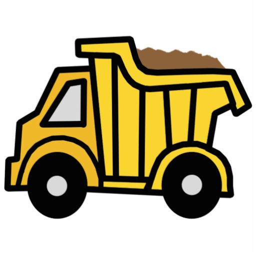 Cartoon Clip Art With A Construction Dump Truck Photo Cut Outs