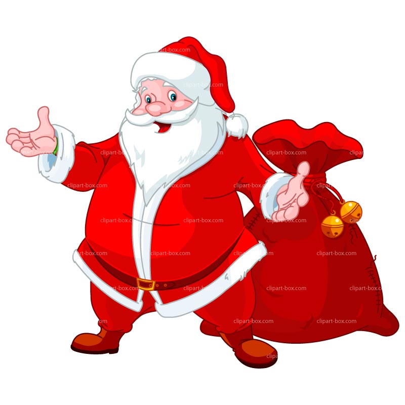 Clipart Santa With Bag   Royalty Free Vector Design