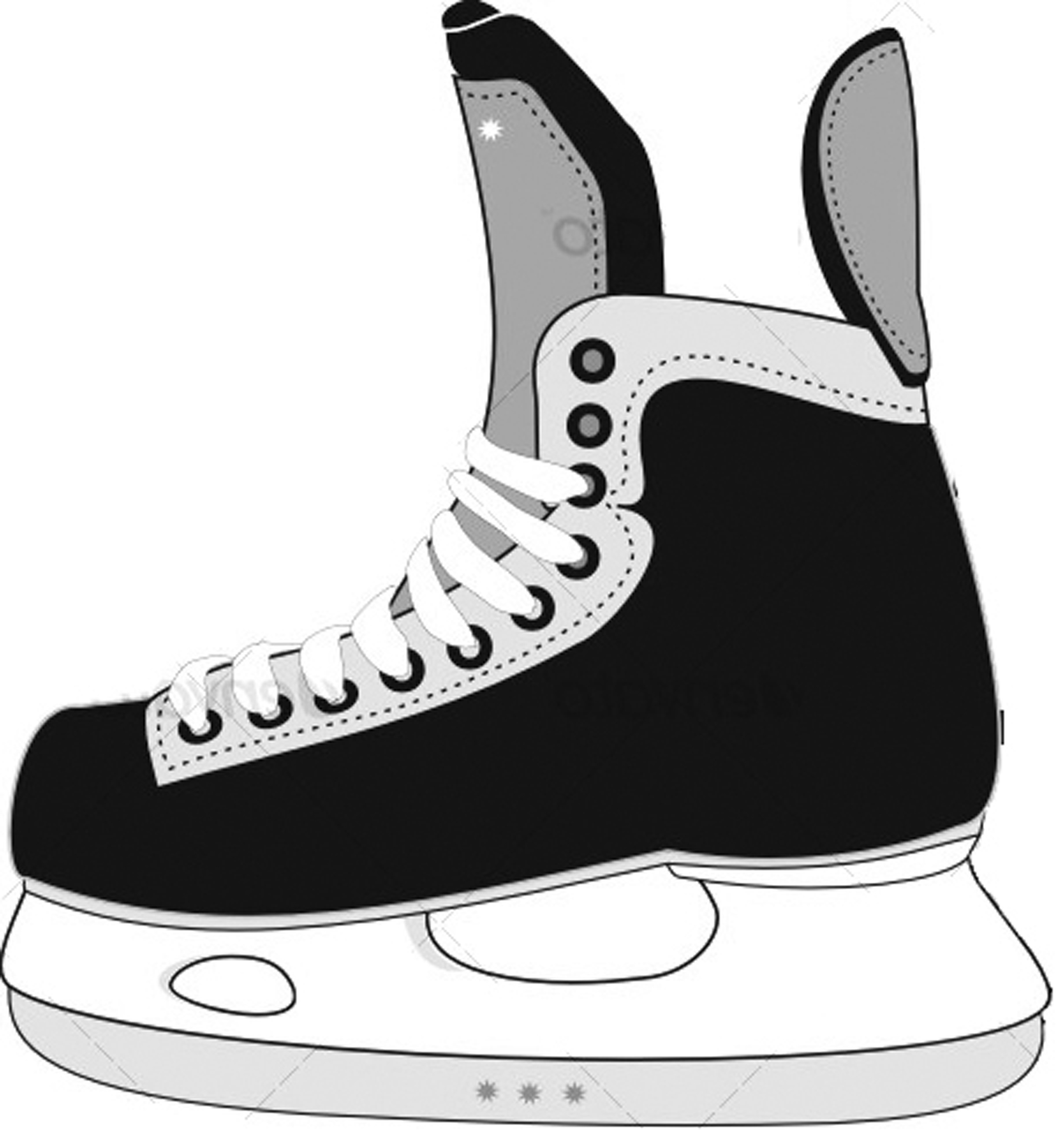 Clip Art Ice Skate Clipart ice hockey skates clipart kid displaying 20 images for cartoon skates