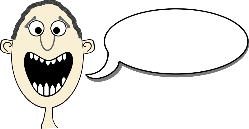 Free Cartoon Face With Speech Bubble Clip Art
