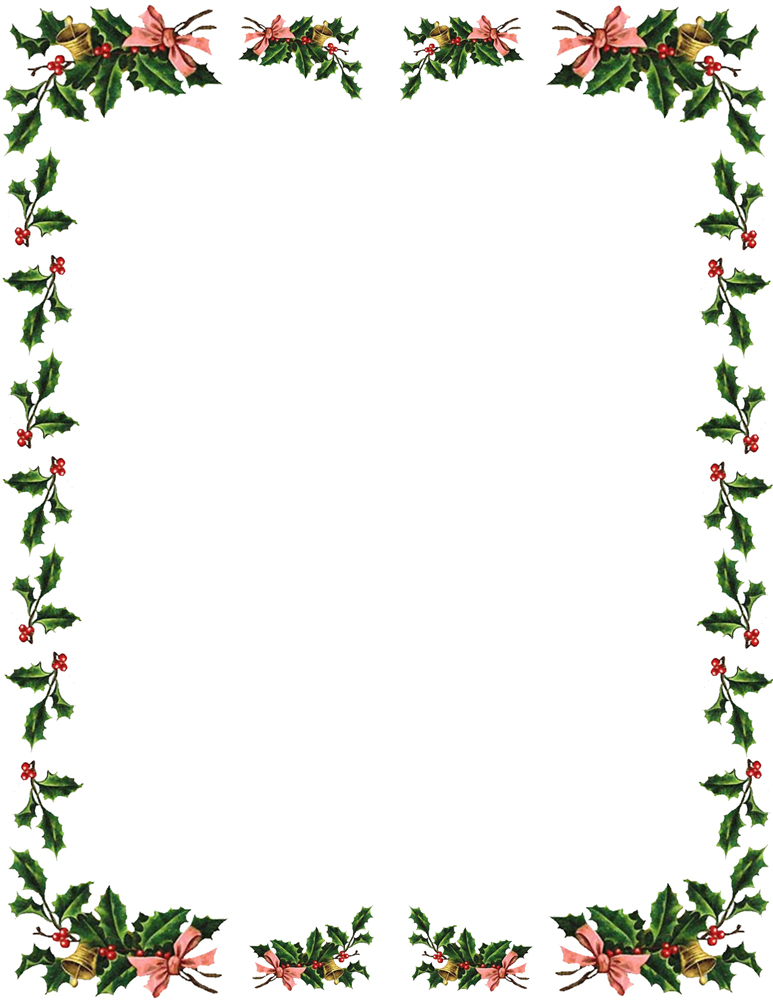 Free Christmas Borders   Envelope Size