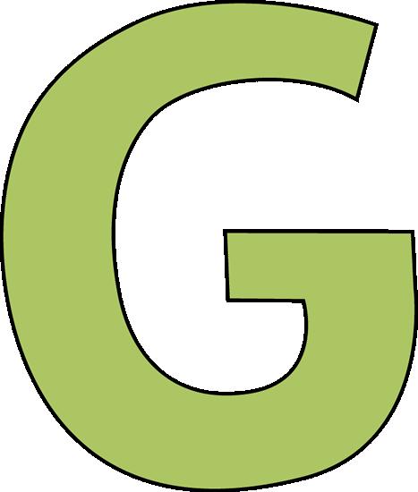 Green Letter G Clip Art Image   Large Green Capital Letter G