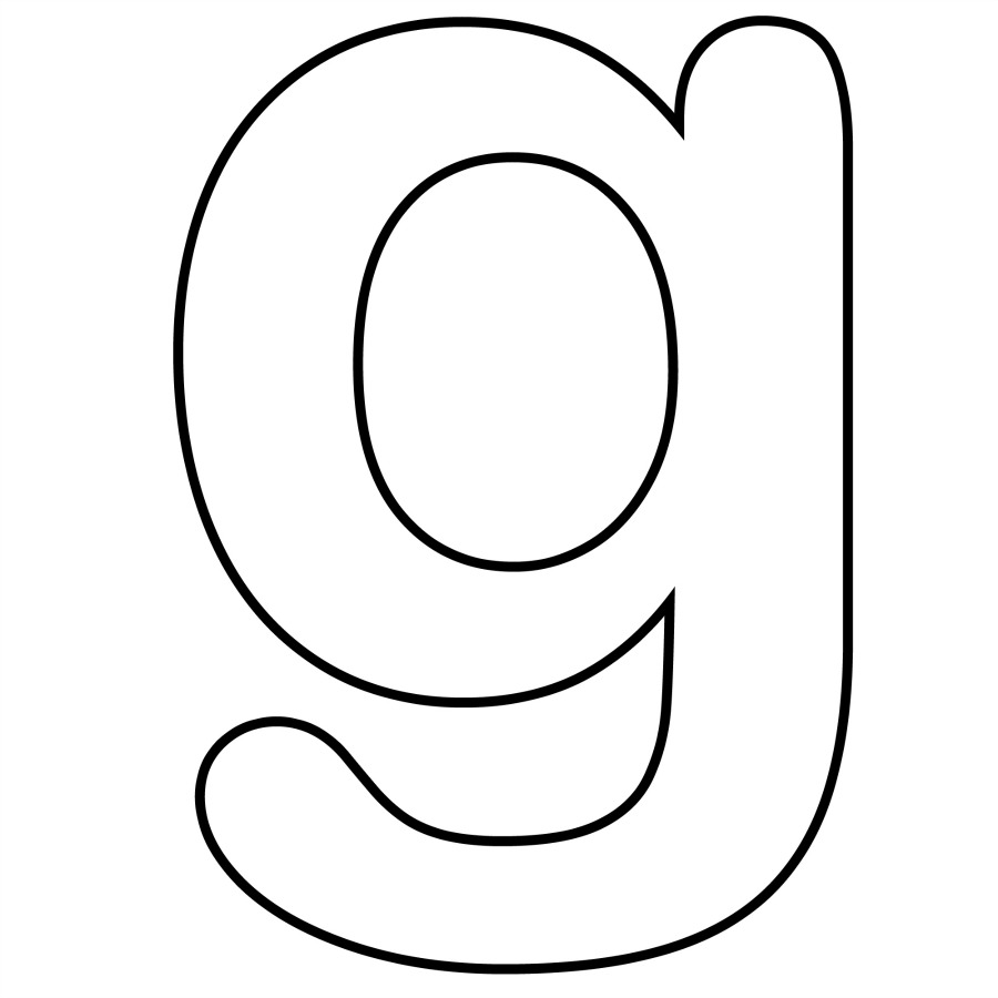 Lowercase Letter G Cliparts on Letter Gg Craft