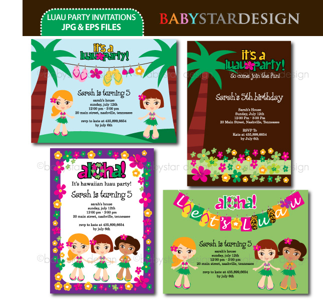 Luau Party Invitation Templates Luau Party Party Lei Aloha