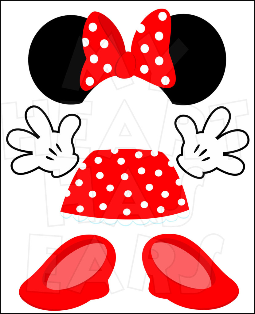 Minnie Mouse Body Parts For State Room Disney Cruise Door Instant