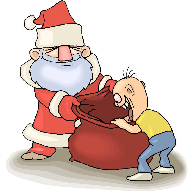 Present In Santa Clause Bag Free Clipart   Free Microsoft Clipart