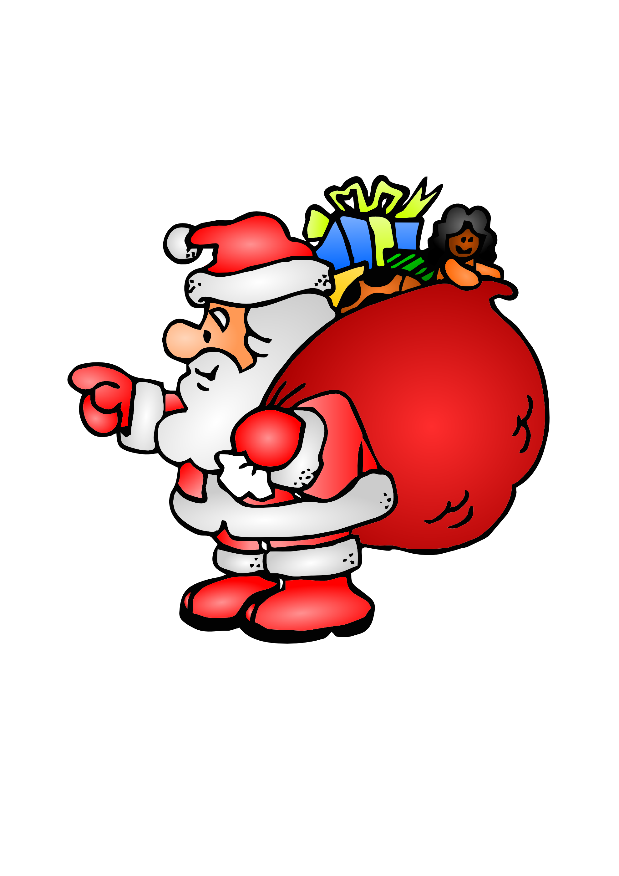 Santa Claus Clip Art Animated   Clipart Panda   Free Clipart Images