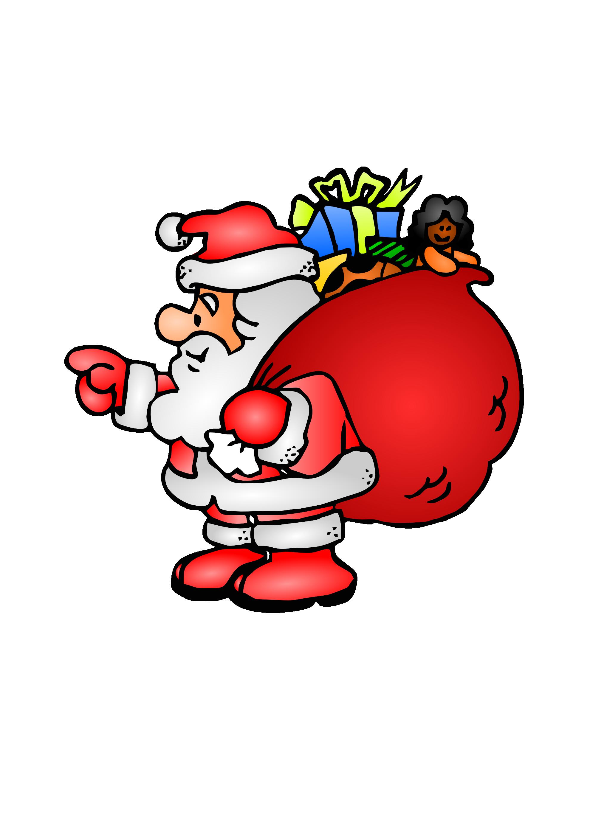 Santa Bag Clipart - Clipart Kid