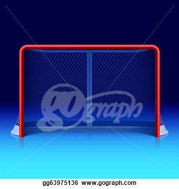 Stock Illustration   Ice Hockey Net  Clipart Drawing Gg63975136