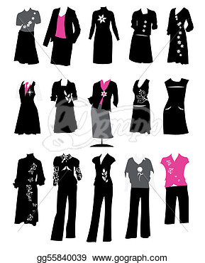 Suits Office Style Dress Code  Clipart Drawing Gg55840039   Gograph
