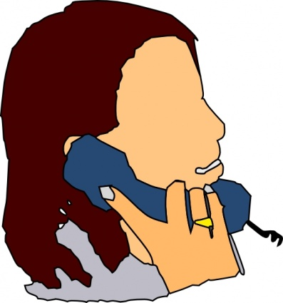 Talking In The Phone Clip Art Vector Free Vectors   Vector Me