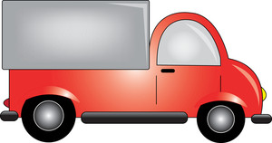 Truck Clipart Image   Clip Art Image Of A Red Cartoon Delivery Truck