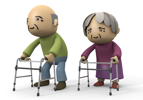 Elderly Walker Clipart - Clipart Kid