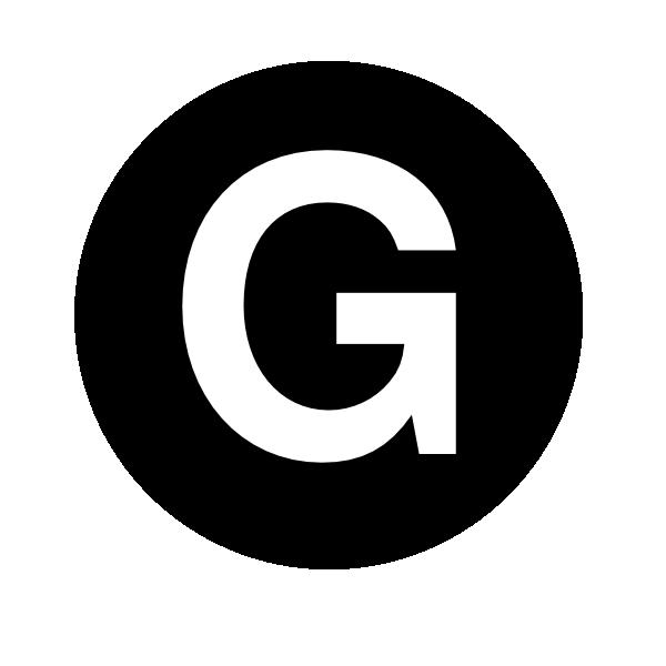 White Letter G Clip Art At Clker Com   Vector Clip Art Online Royalty