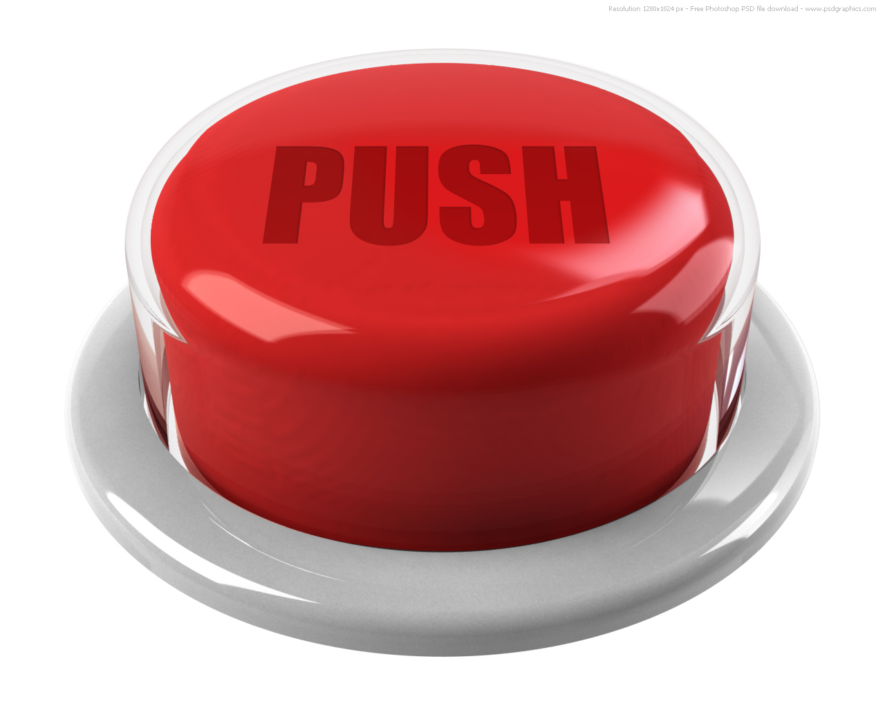 3d Red Push Button   Psdgraphics