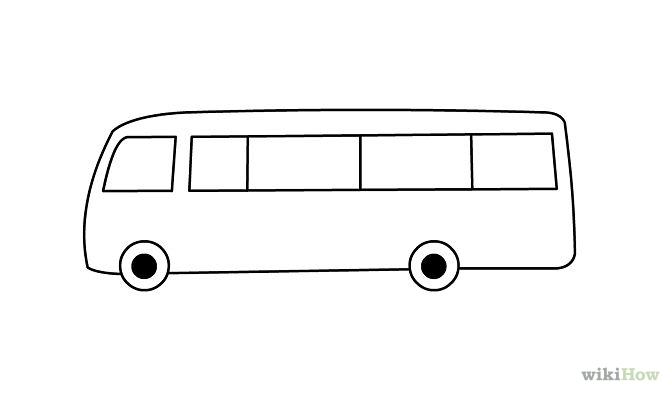 Bus Outline   Cliparts Co