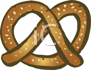 Clipart Picture Of A Salted Pretzel   Foodclipart Com
