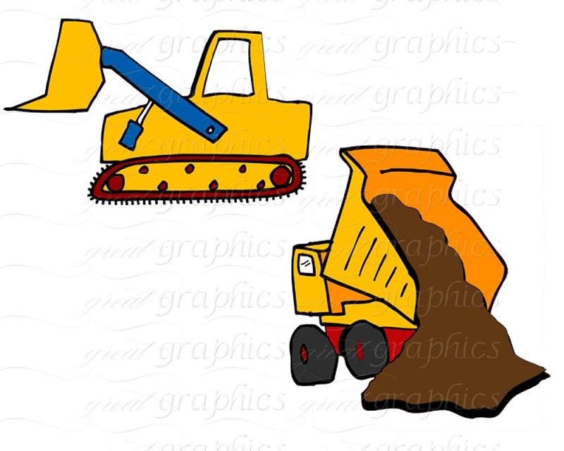 Dump Truck Cartoon Clipart - Clipart Kid