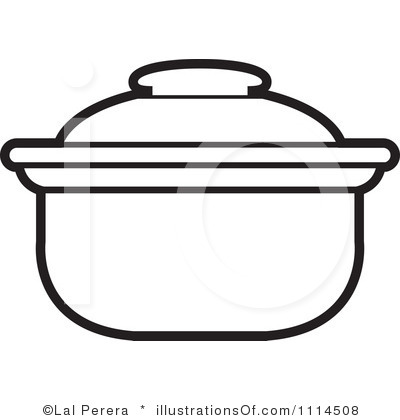 Cooking Pot Clipart Outline Cooking Pot Outline Cooking