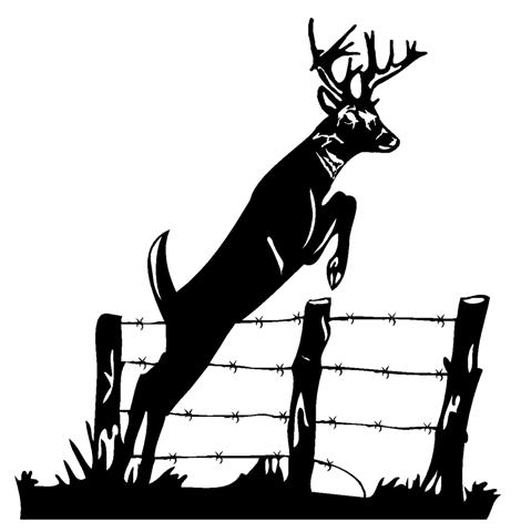 Whitetail Deer Jumping Clipart - Clipart Kid