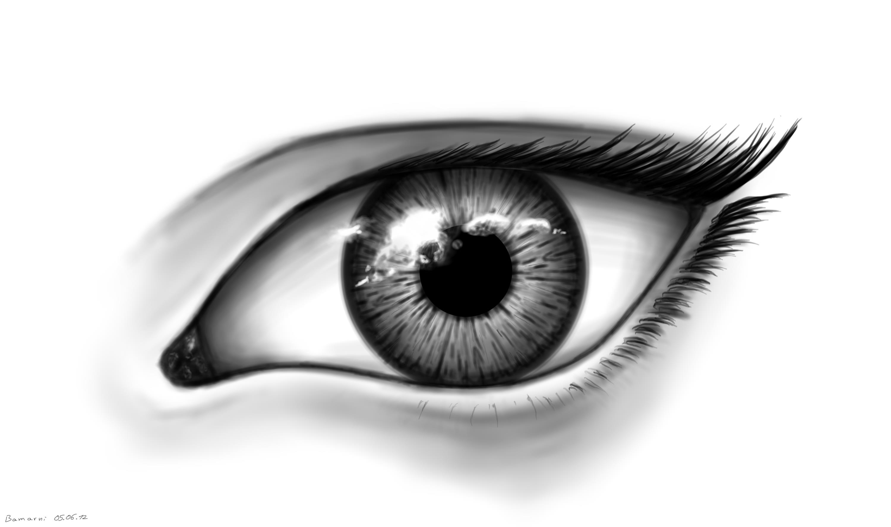 ... Black And White Eye By Loccorico On Deviantart #EbsqnJ - Clipart Kid