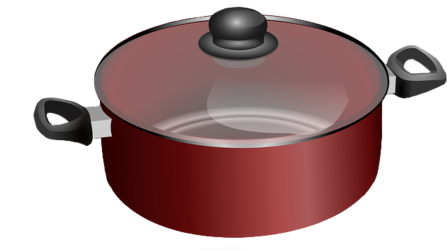 Free Realistic Red Cooking Pot Clip Art