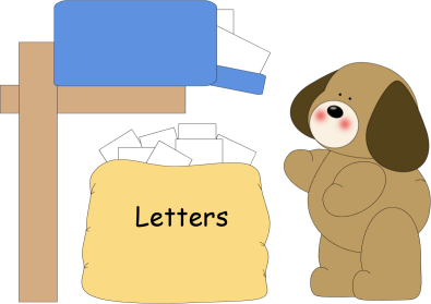 In The Mailbox Clip Art   Dog Putting Letters In The Mailbox Image