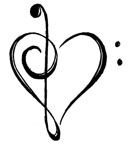 Music Notes Heart Beat Music Note Heart Jpg