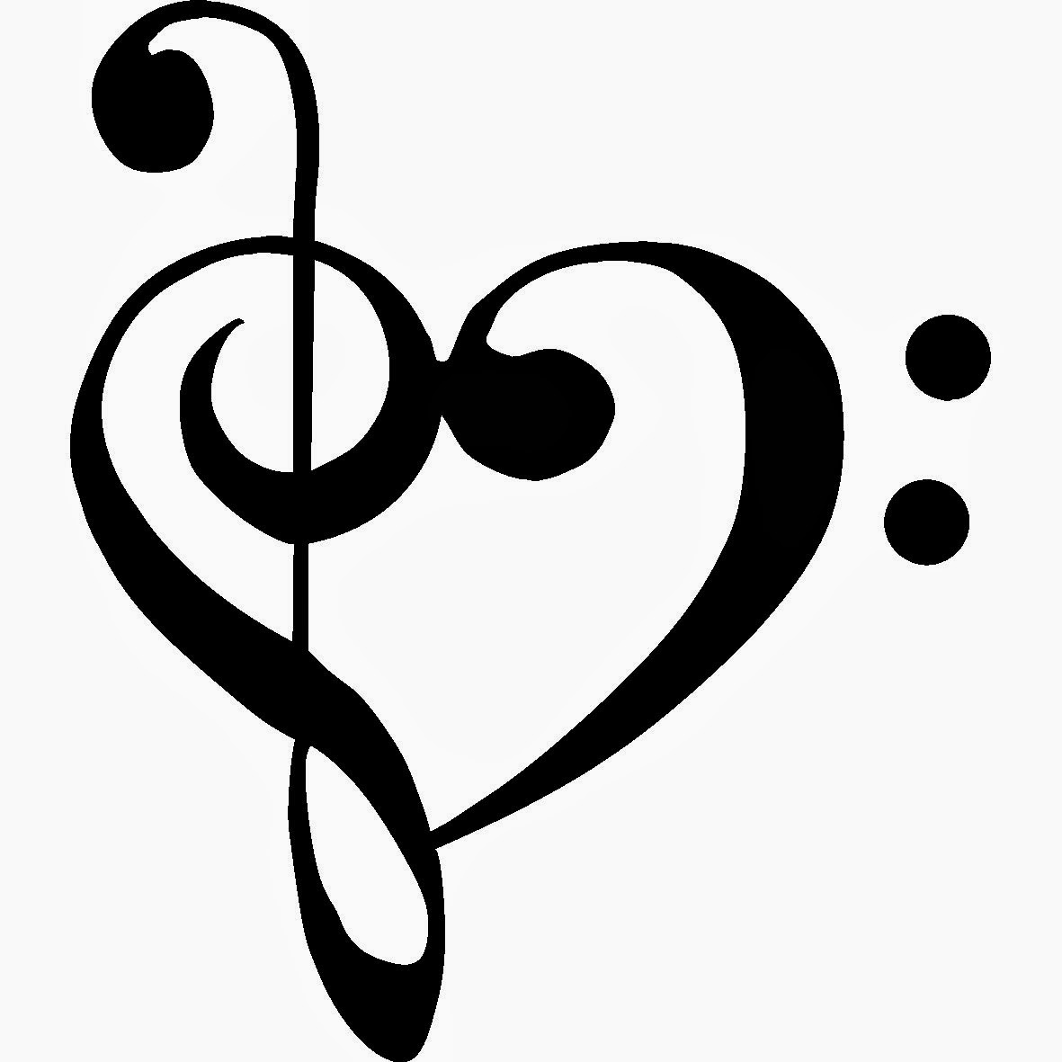 Heart Music Notes Clipart - Clipart Kid