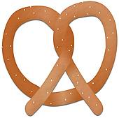 Pretzel   Royalty Free Clip Art