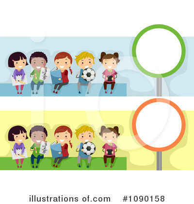 Royalty Free  Rf  Banners Clipart Illustration  1090158 By Bnp Design