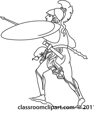 Soldier Clipart Black And White Ancient Rome Soldier Outline