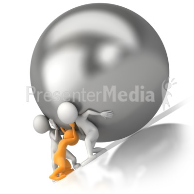 Team Push Burden   Business And Finance   Great Clipart For