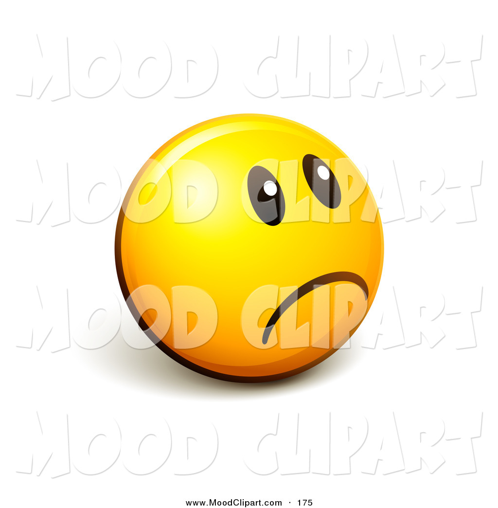 Yellow Frowny Face Mood Clip Art Of A Frowny