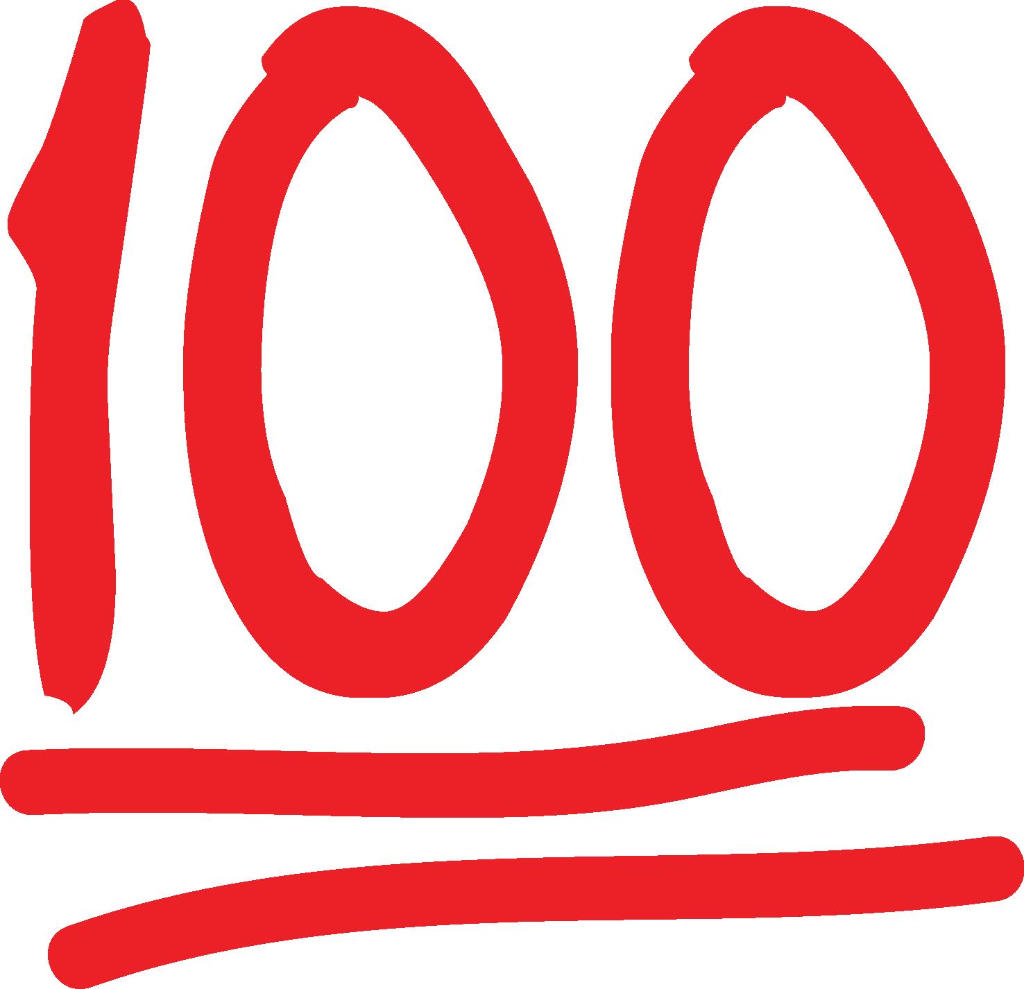 Hundred Points Symbol Emoji - Emojipedia