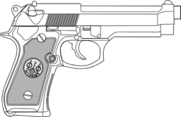 9mm Pistol Clipart   Royalty Free Public Domain Clipart