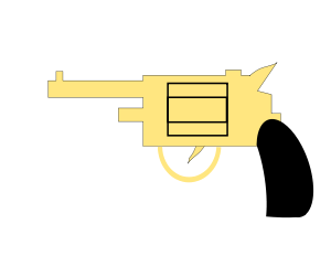 9mm Pistol Svg Clipart