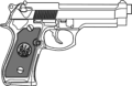 9mm Pistol   Vector Clip Art
