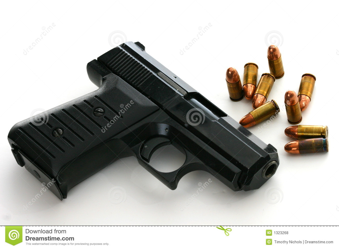 9mm Pistol With Ammo Royalty Free Stock Photos   Image  1323268
