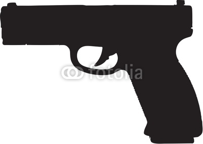 9mm Semi Automatic Gun Clip Art With Clipping Path Stock Photo And