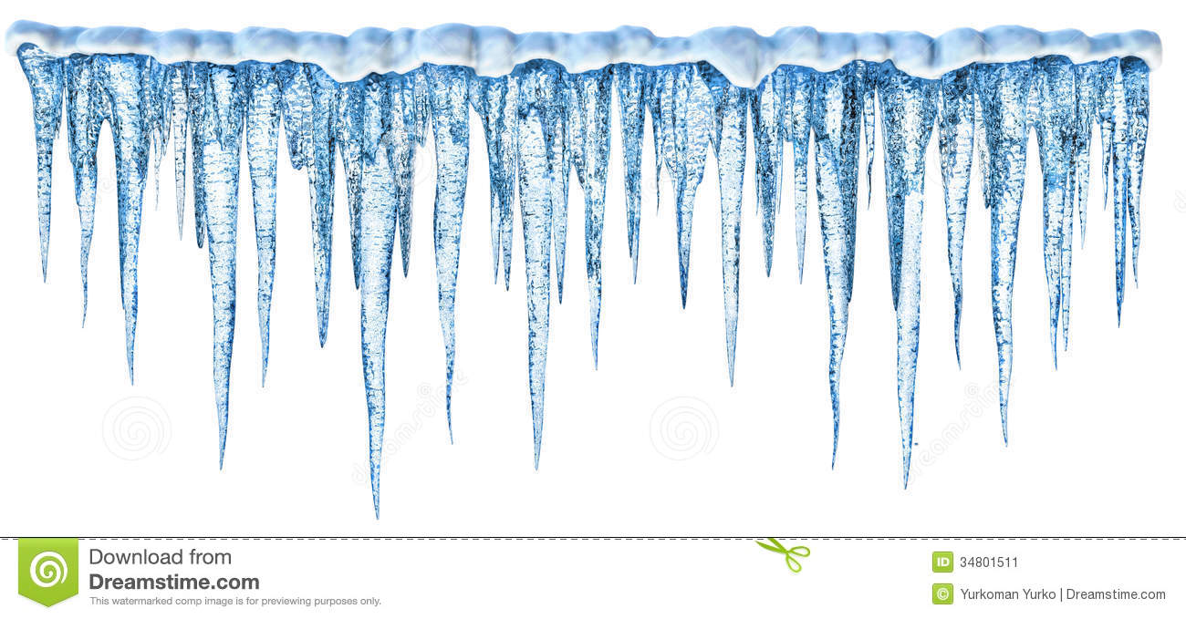 Blue Cold Icicles With On A White Background  More My Images Of